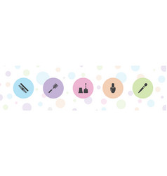 5 manicure icons vector