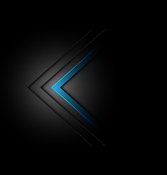 abstract blue arrow direction dim light on black vector image