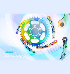 abstract colors cogwheel concepts scene vector image