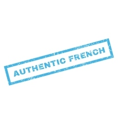Authentic French Rubber Stamp vector image