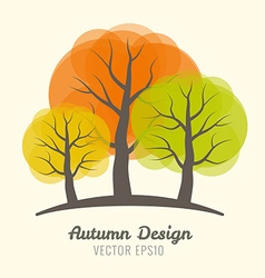 Autumn colorful trees vector image