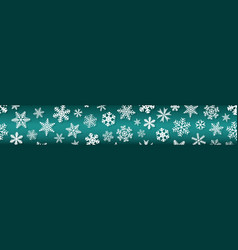 banner snowflakes with shadows vector image