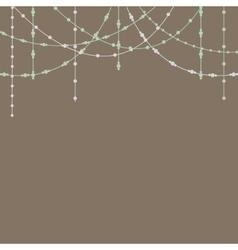 Beads garlands vector