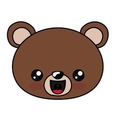 Bear kawaii cartoon design vector image
