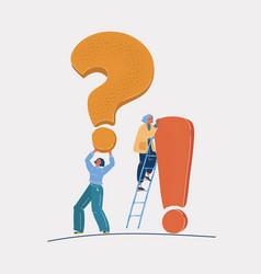 Big giant question vector