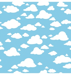 Blue sky with clouds seamless pattern vector