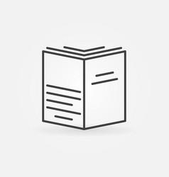 Book concept symbol vector