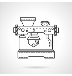 Cafe equipment line icon vector image