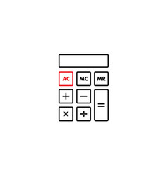 calculator graphic design template isolated vector image