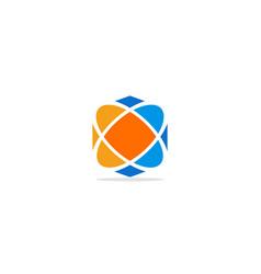 circle technology orbit colored logo vector image