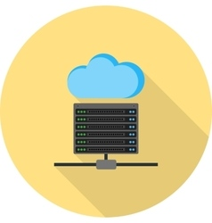 Cloud and Server Data vector image