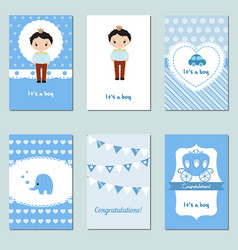 collection of cute baby boy card collection of vector image
