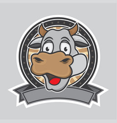cow logo design vector image