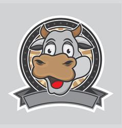 cow logo design vector image