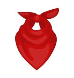 Cowboy bandana icon in cartoon style isolated on vector