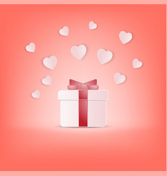 creative happy valentines day postcard vector image