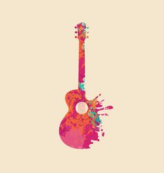 Creative musical image an abstract guitar vector