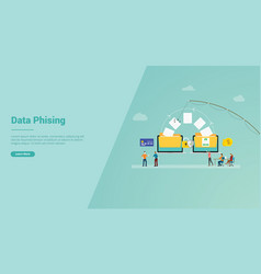 data phising for website template or landing vector image