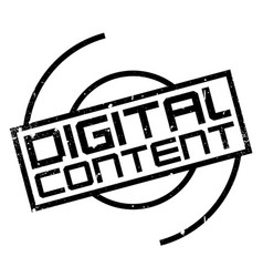 digital content rubber stamp vector image