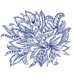 doodle flower abstract vector image