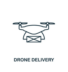 drone delivery outline icon creative design from vector image