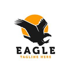 eagle bird modern logo vector image