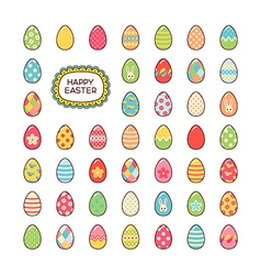 Easter icons vector