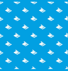 election paper pattern seamless blue vector image