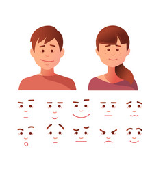 face icon set vector image