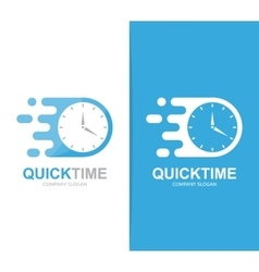 Fast clock logo combination Speed timer vector