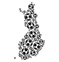 Finland map collage of soccer spheres vector