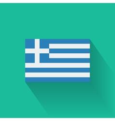 Flat flag greece vector