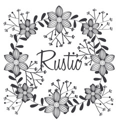floral rustic design vector image