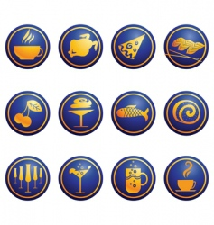 food web icons vector image