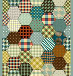 geometric patchwork pattern of a squares vector image