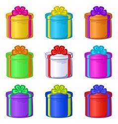 gift box round vector image