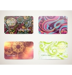 Gift card designs set vector image