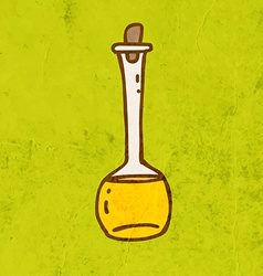 Glass Bottle Cartoon vector image