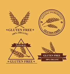 Gluten free and wheat labels Retro design vector image