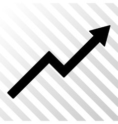 Growth trend chart icon vector
