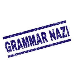 Grunge textured grammar nazi stamp seal vector