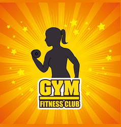 Gym and fitness lifestyle graphic design vector