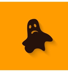 Halloween ghost sign vector