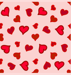 Happy valentines day wishes seamless background vector