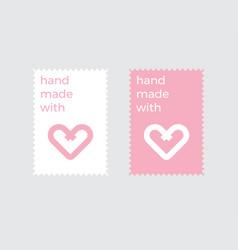 heart logo design template vector image