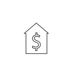 home sale line icon vector image