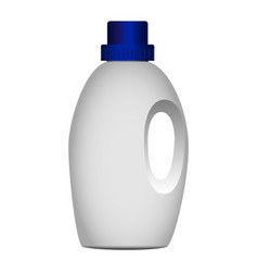 House bottle cleaner mockup realistic style vector