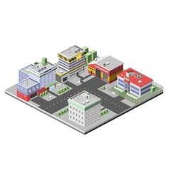 Isometric Buildings Concept vector image