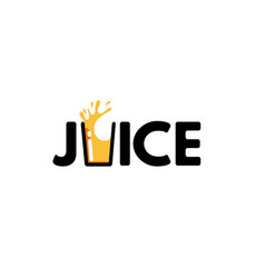juice typography letter logo vector image