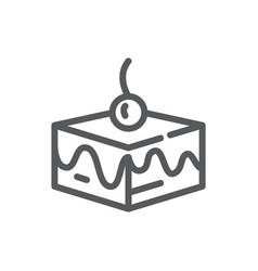 layered cake - editable line vector image
